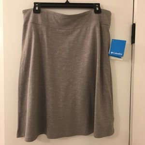 NWT Columbia Heathered Gray A-Line Skirt